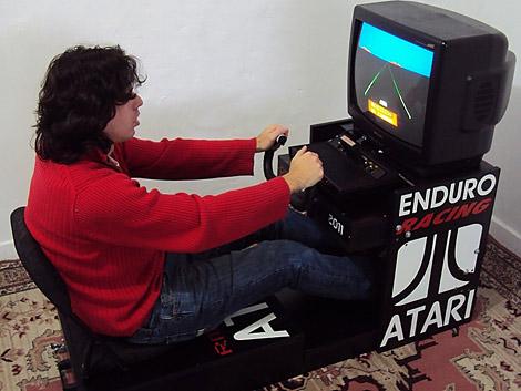 Enduro@Atari 2600 в натуральную величину