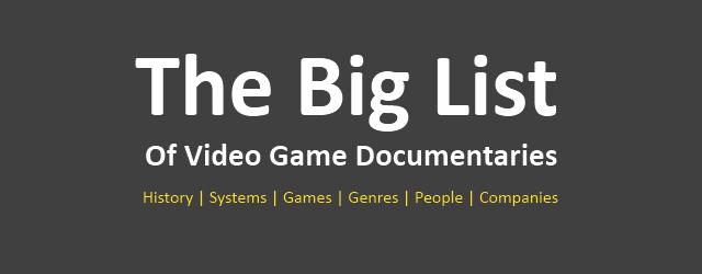 Самый полный список документальных фильмов об играх