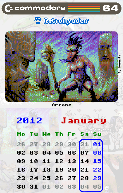 Календарь на 2012 г.