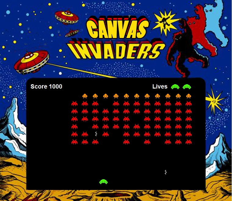 Space Invaders на HTML5