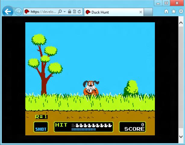 Duck Hunt в браузере
