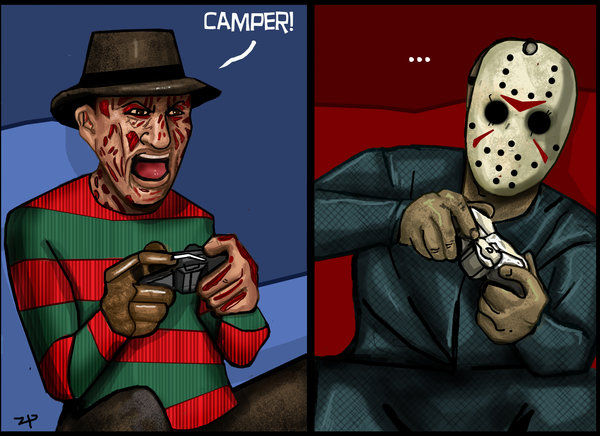 Freddy and Jason plays videogames