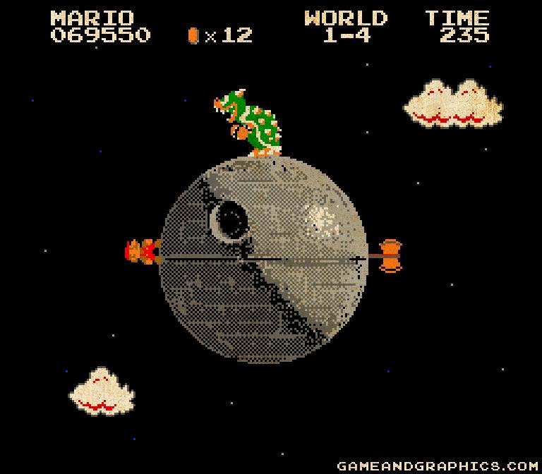 В далекой Mario-галактике бушевали...
