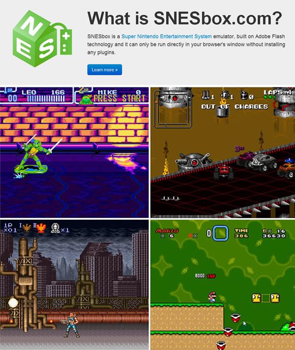 Онлайн-эмуляторы: SNESbox vs NESbox