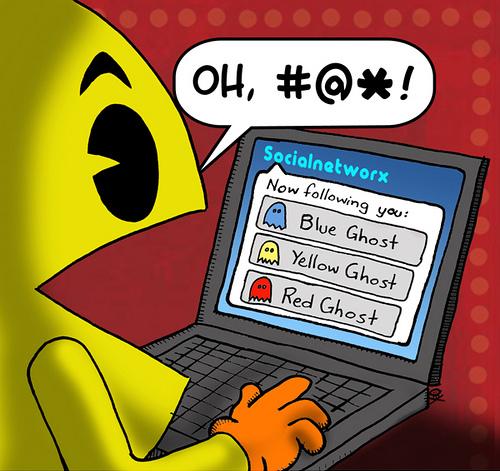 Pacman в Твиттере