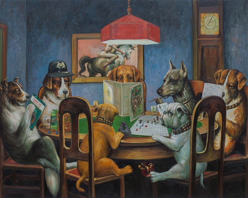 dogs playing DnD