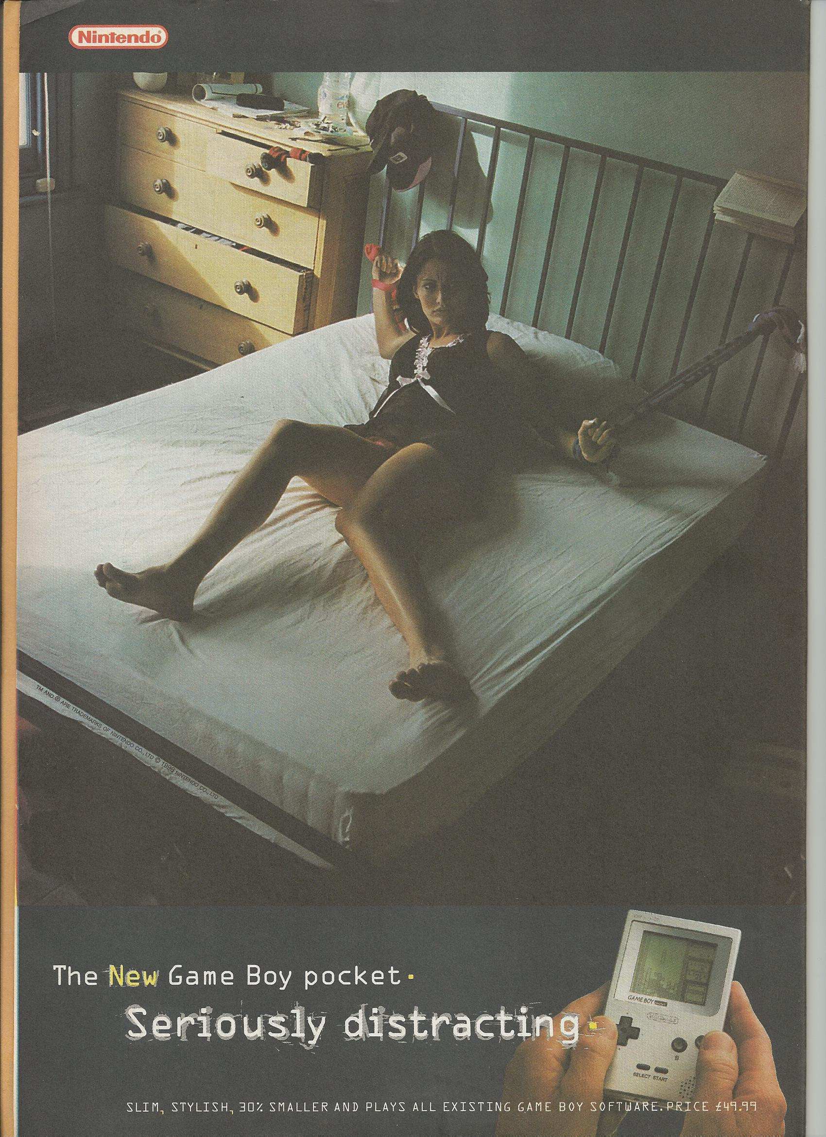 The new Game Boy Pocket. Seriously distracting Ad Feb'97