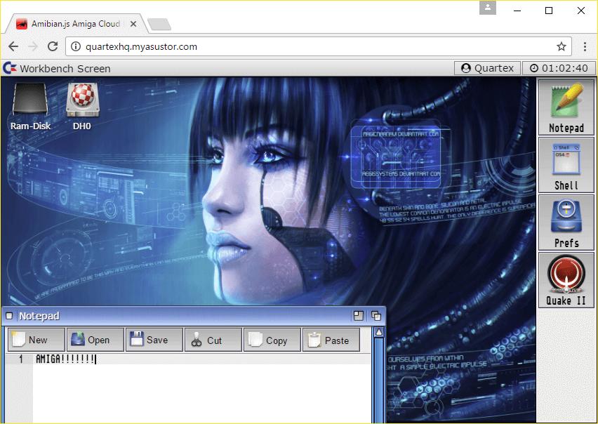 Амига в браузере