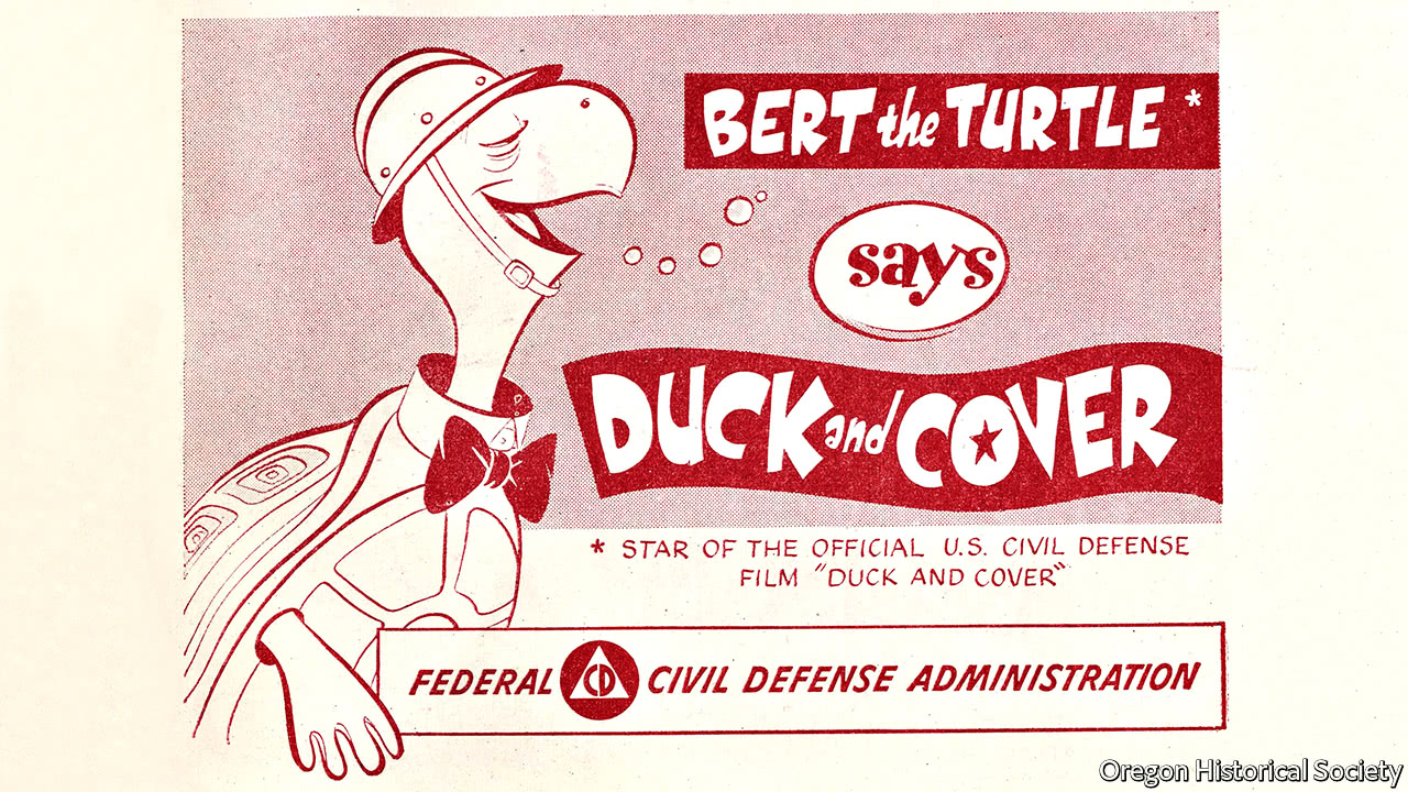 bert the turtle says duck and cover