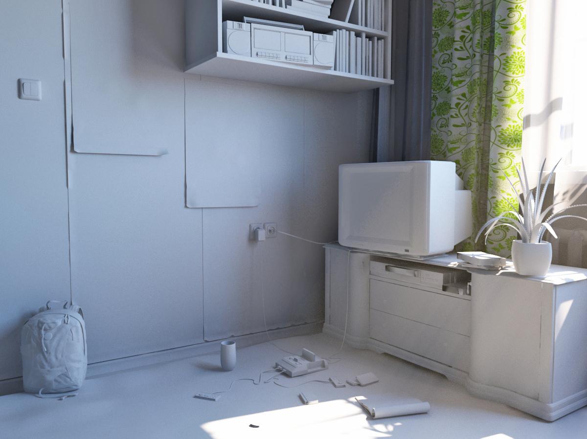 комната 90-ых 3d модель