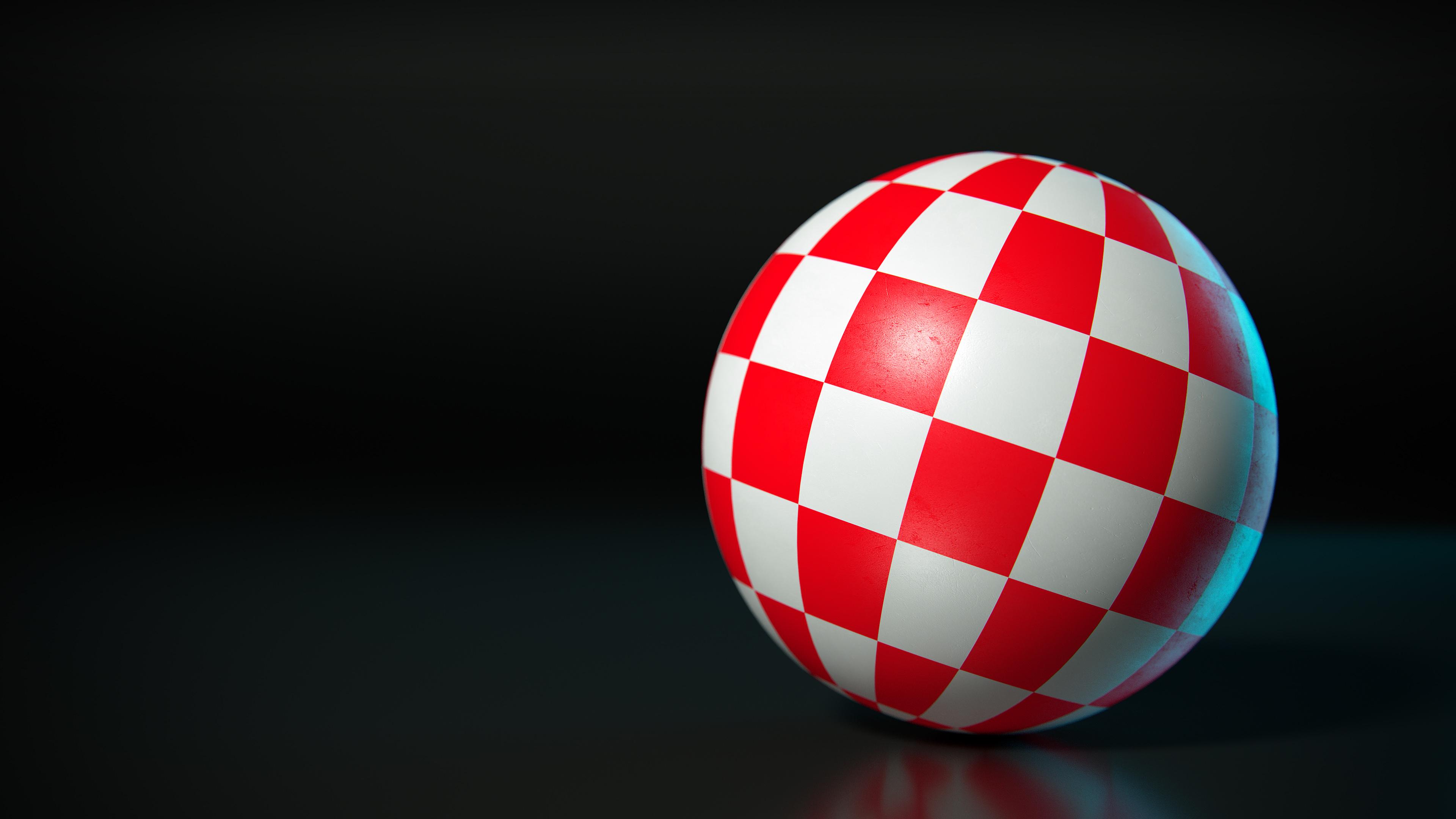 Amiga Boing Ball 4K wallpaper