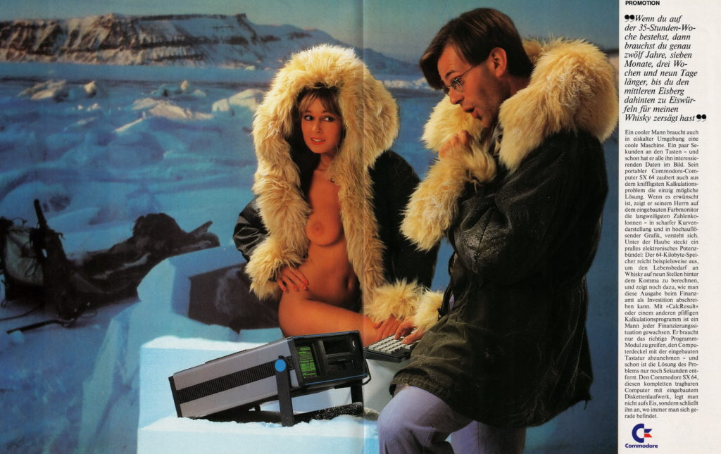 Голый Commodore SX-64