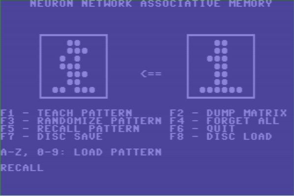 Нейросеть на Commodore 64
