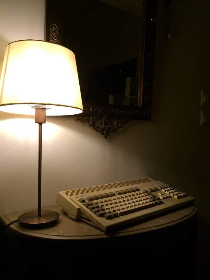 Amiga with lamp