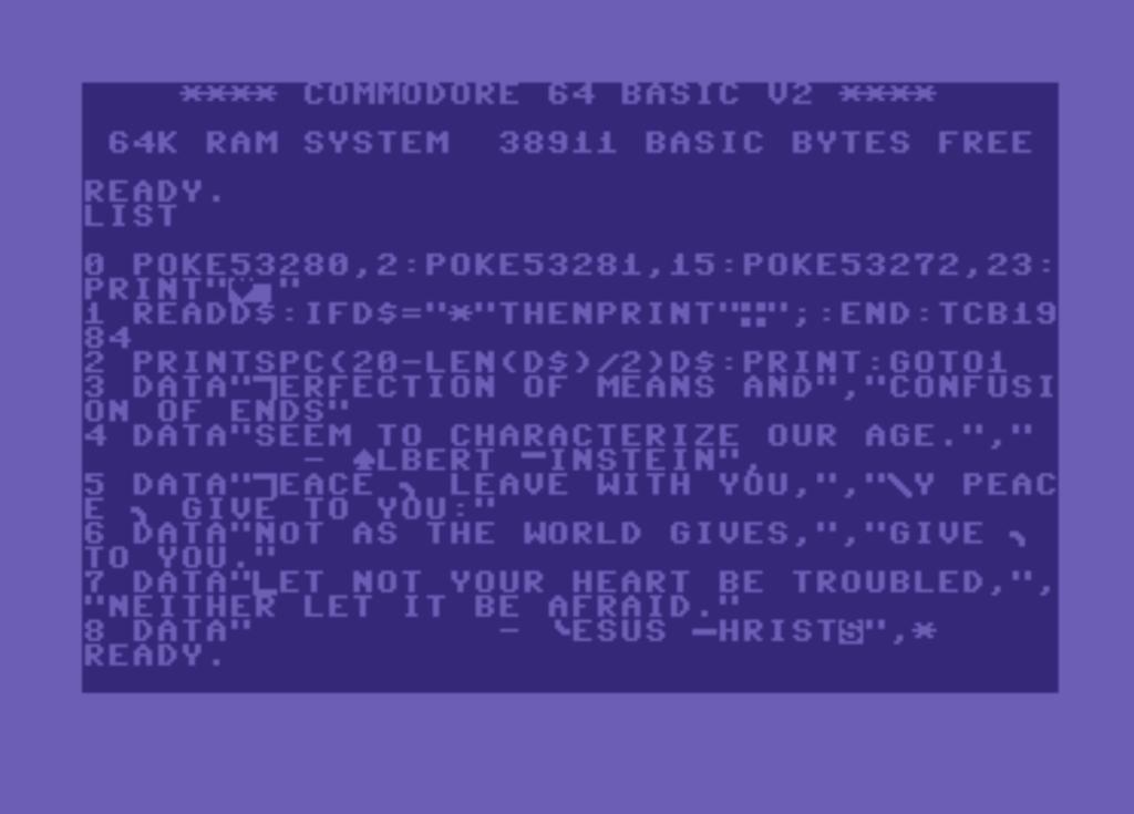 Христианский рок vs Commodore 64