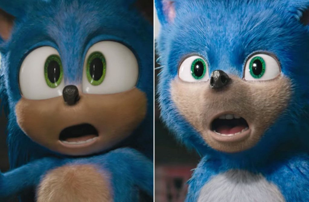 sonic eyes before and after trailer