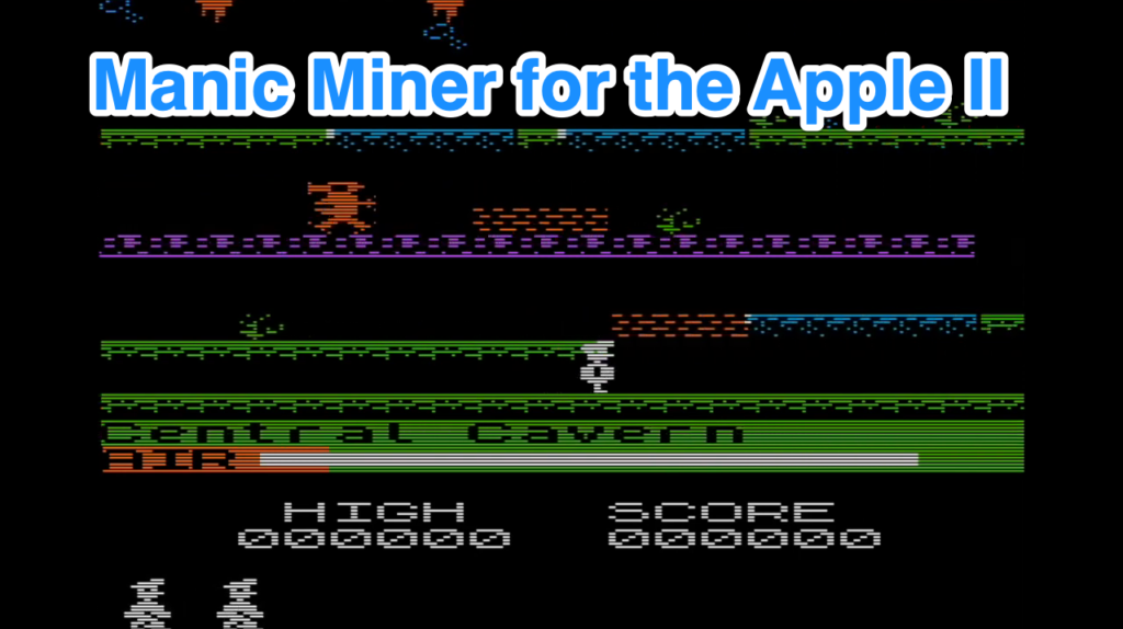Manic Miner портировали на Apple II