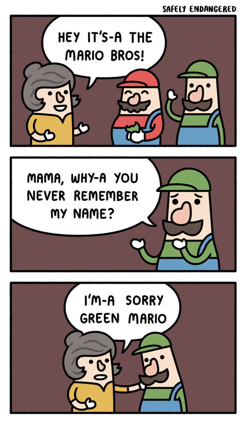 Mario Luigi Mama