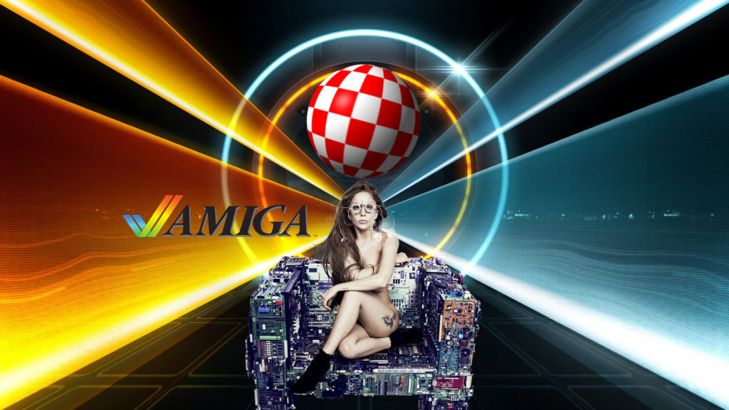 Wallpaper Amiga Gaga for AmigaOS