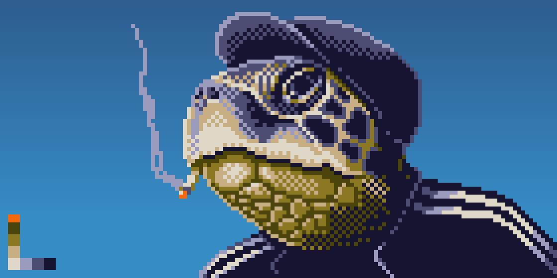 Славянская черепаха курит...
