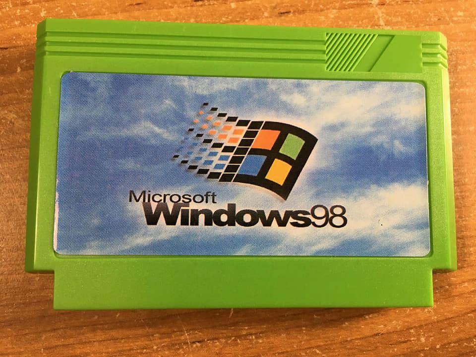 Microsoft Windows 98 NES cartridge