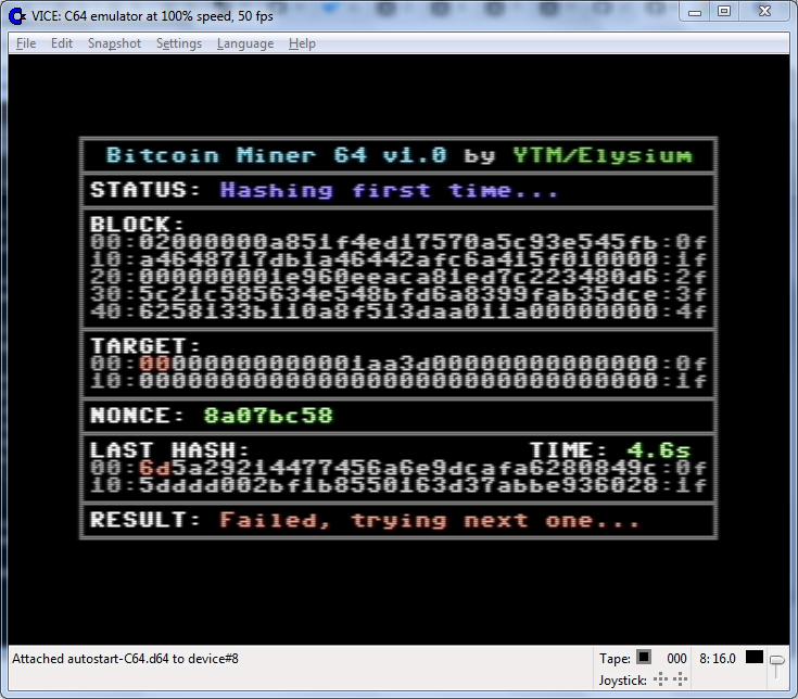 Майним bitcoin на старом железе
